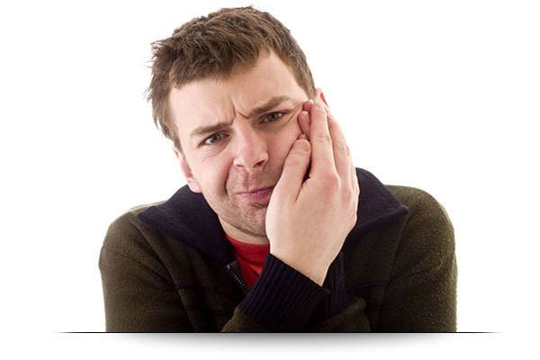 middle aged man with tooth ache